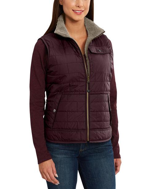 Carhartt Women's Burlwood Amoret Sherpa-Lined Vest , , hi-res