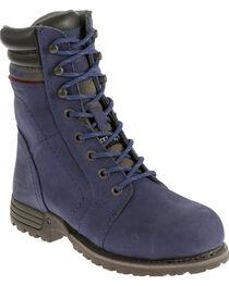 Caterpillar Women's Purple Echo Waterproof Work Boots - Steel Toe , , hi-res