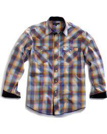 Tin Haul Men's Sunrise Plaid Snap Western Shirt, , hi-res