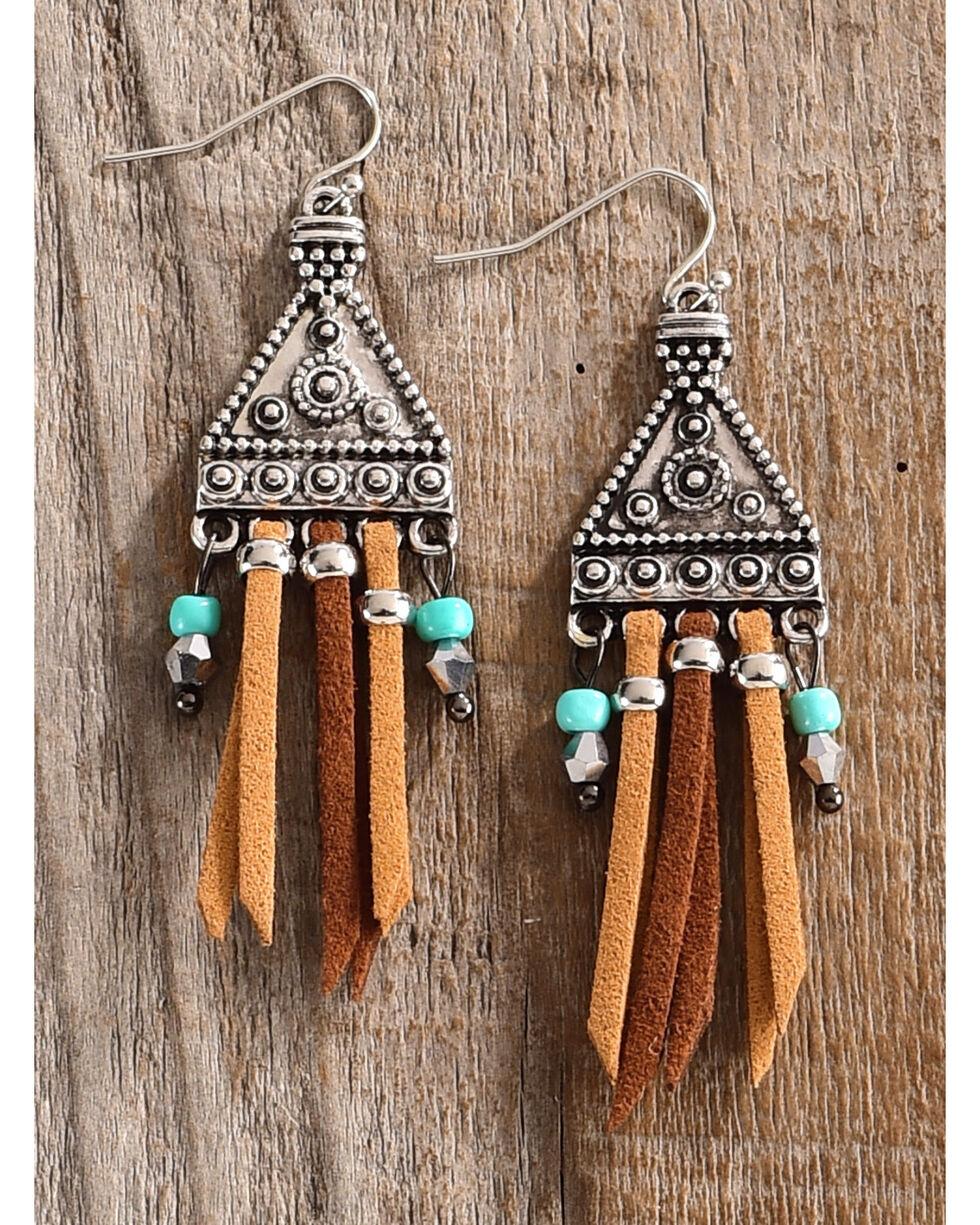 Lost & Found Women's Maya Suede Fringe Earrings , Multi, hi-res