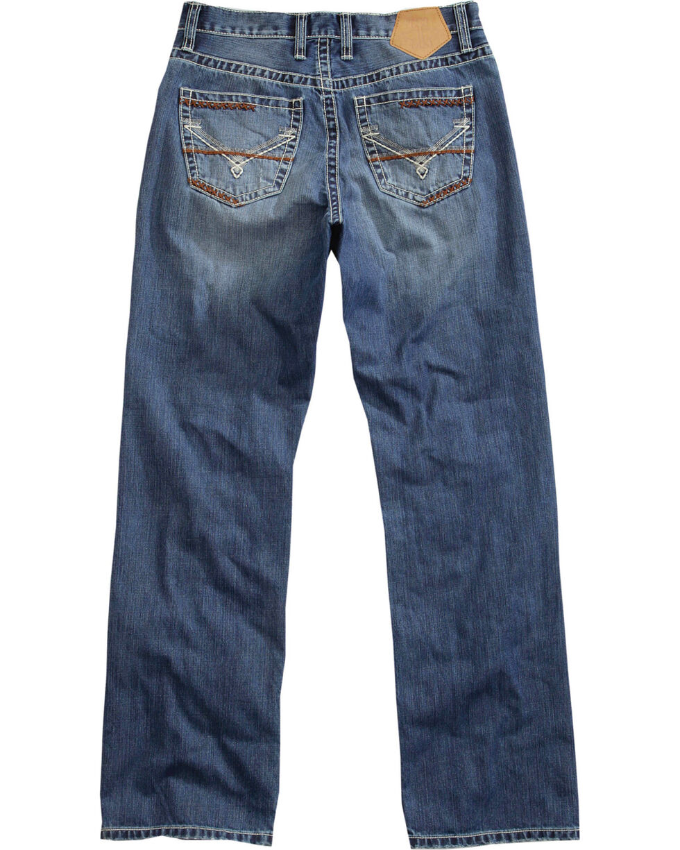 Tin Haul Men's Medium Wash Regular Joe Fit Jeans - Boot Cut, Indigo, hi-res