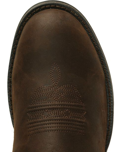 Durango Men's Rebel Round Toe Western Boots, Chocolate, hi-res