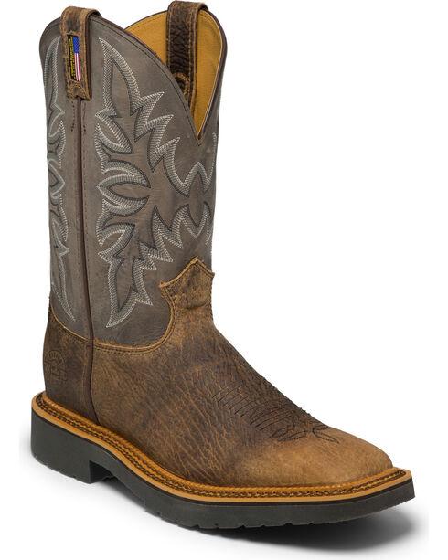 Justin Men's Scottsbluff Western Work Boots, Brown, hi-res