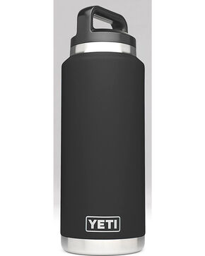 Yeti Black 36 oz. Bottle Rambler , Black, hi-res