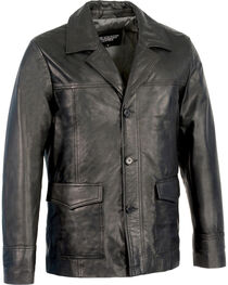 Milwaukee Leather Men's Leather Car Coat Jacket - Big 4X , Black, hi-res