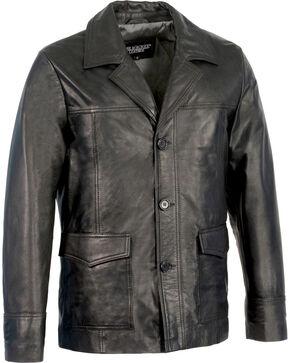 Milwaukee Leather Men's Leather Car Coat Jacket - Big 4X , Black, hi-res