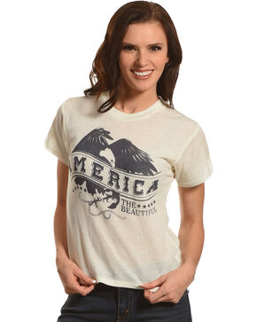 White Crow Women's Ivory America The Beautiful Tee , Ivory, hi-res