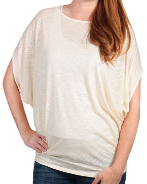 Rock 47 by Wrangler Women's Cap Sleeve Knit Top, Ivory, hi-res