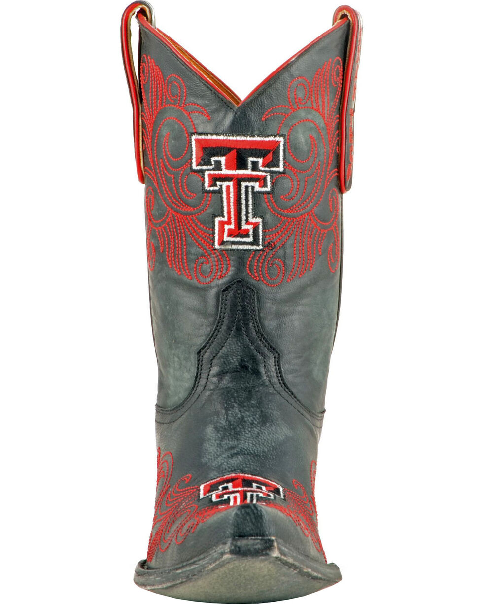 Gameday Texas Tech University Cowgirl Boots - Snip Toe, Black, hi-res