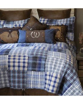 Carstens Ranch Hand King Bedding - 5 Piece Set, Blue, hi-res