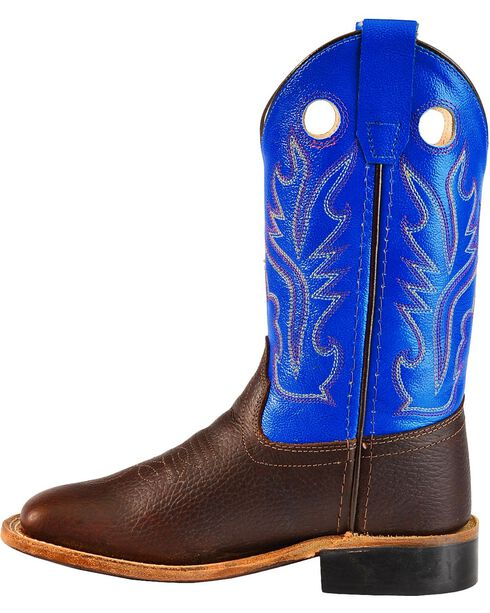 Old West Youth Boys' Thunder Cowboy Boots - Square Toe, Oiled Rust, hi-res