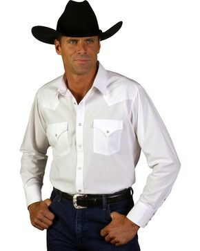 Ely Solid Classic Western Shirt - Custom Fit, Neck & Sleeve Sizing, White, hi-res
