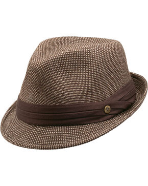 Peter Grimm Women's Bruce Fedora, Brown, hi-res