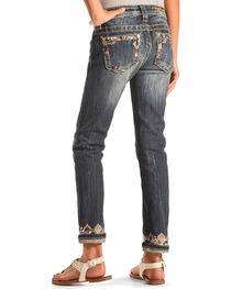 Miss Me Girls' Embellished Cuff and Pocket Skinny Jeans , , hi-res