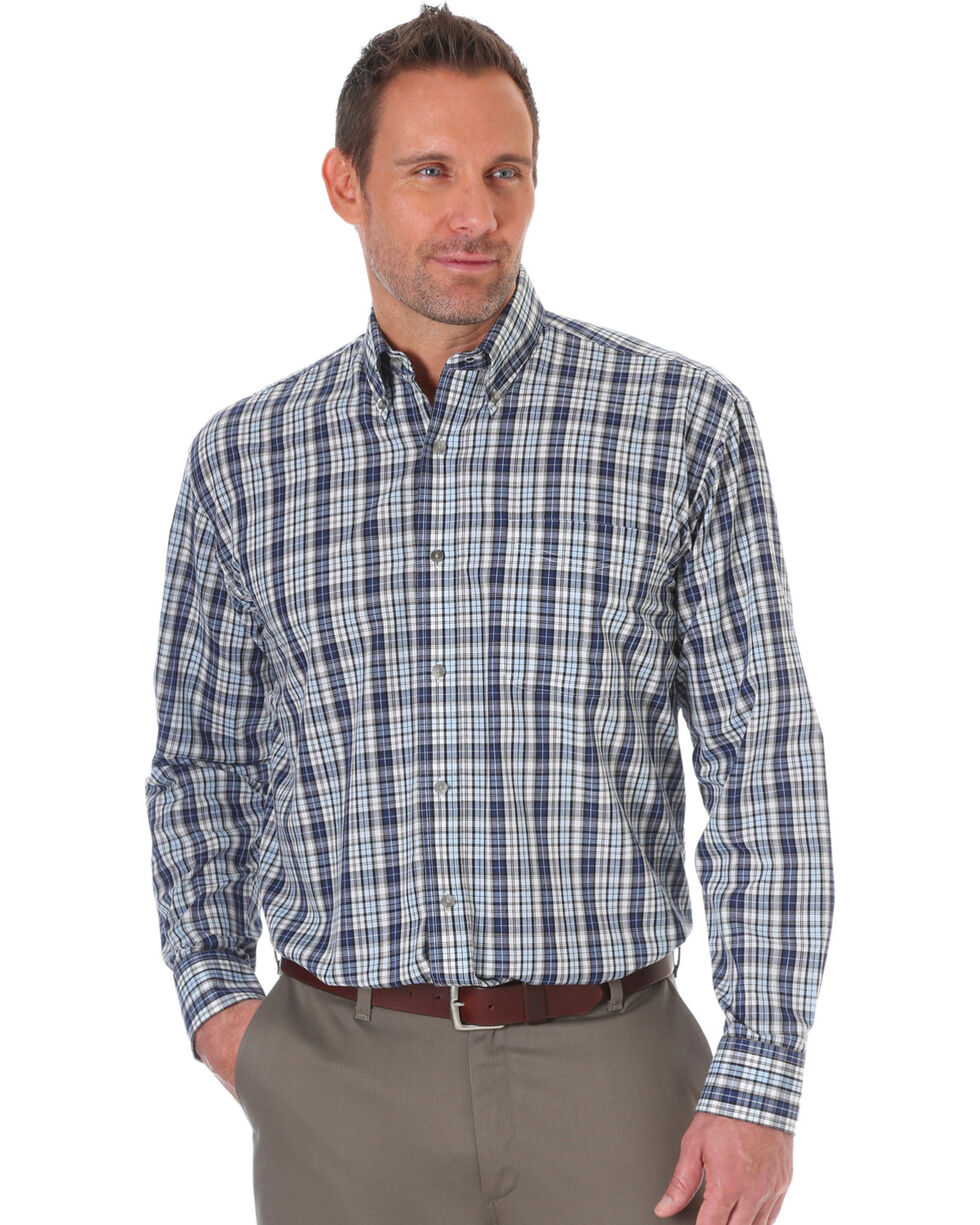 Wrangler Men's Riata Assorted Long Sleeve Western Shirts , Multi, hi-res