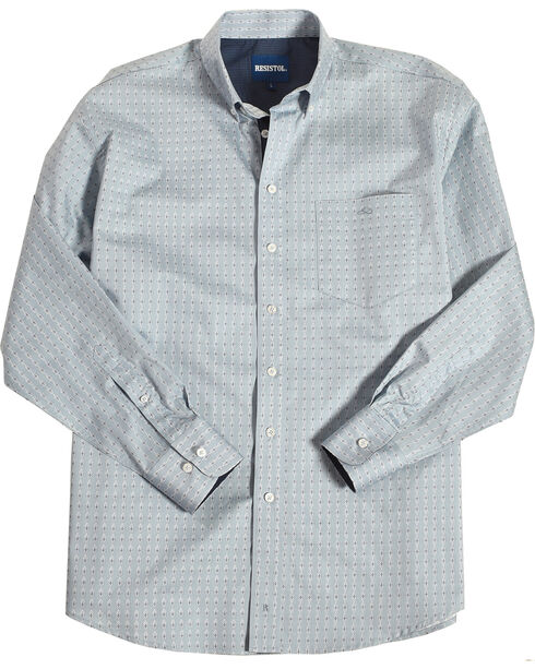 Resistol Men's Light Blue Edison Geo Button Shirt , Light Blue, hi-res