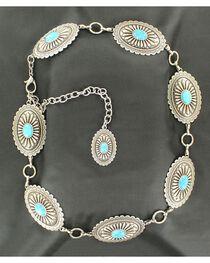 Ariat Women's Western Concho Chain Belt, , hi-res