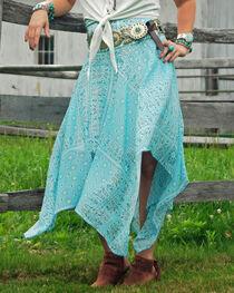 Tasha Polizzi Women's Blue Handkerchief Skirt, , hi-res