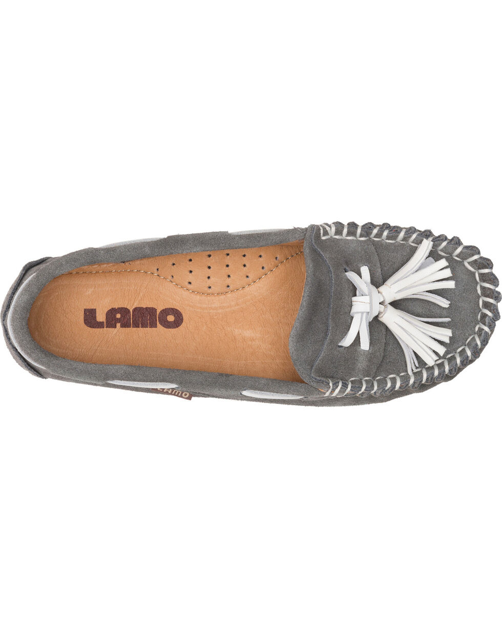 Lamo Women's Leah Tasseled Moccasins , Grey, hi-res