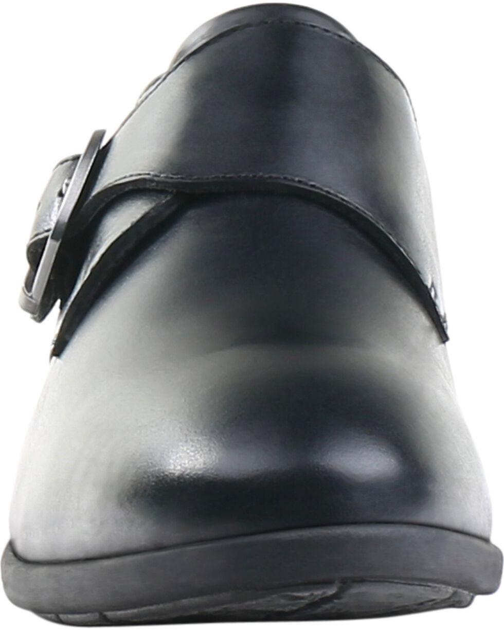 Eastland Women's Black Farrah Monk Strap Slip-Ons , , hi-res
