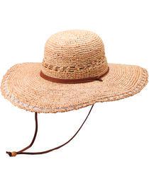 "Peter Grimm Carla 4 1/2"" Raffia Straw Sun Hat, , hi-res"