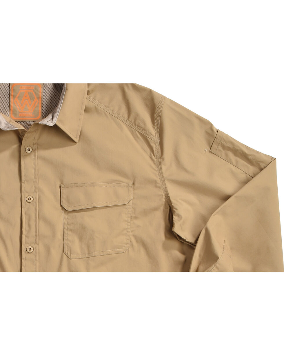 American Worker Men's Tier 1 Performance Solid Shirt   , Beige/khaki, hi-res