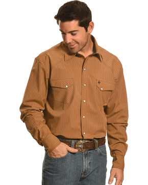 Garth Brooks Sevens by Cinch Stripe Pattern Western Shirt, Beige, hi-res