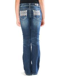 Grace in LA Toddler Girls' Blue Diamond Aztec Jeans - Boot Cut , , hi-res