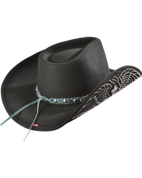 Bullhide Hats Women's Nobody But You Embellished Felt Cowgirl Hat, Black, hi-res