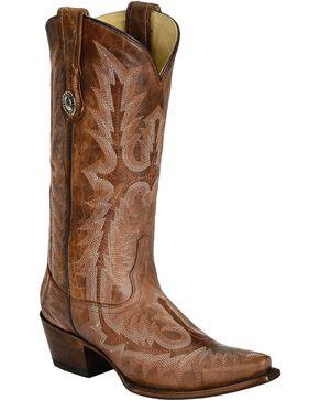 Corral Women's Picasso Snip Toe Western Boots, Cognac, hi-res