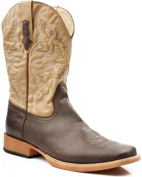 Roper Men's Western Boots, Brown, hi-res