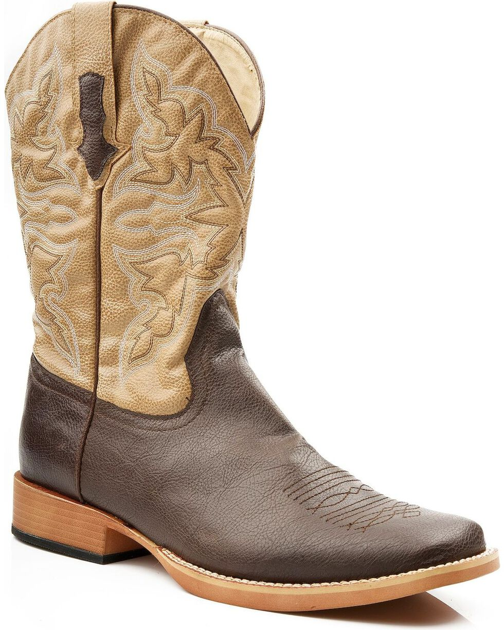 Roper Men's Western Boots, Brown, hi-res