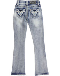 Shyanne® Girls' Low Rise Boot Cut Jeans, , hi-res
