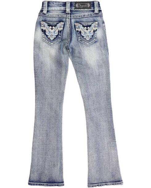 Shyanne® Girls' Low Rise Boot Cut Jeans, Blue, hi-res