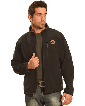 HOoey Men's Black Logo Jacket, Black, hi-res