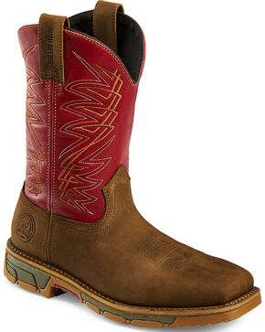 Red Wing Irish Setter Men's Red Marshall Waterproof Work Boots - Steel Toe , Brown, hi-res