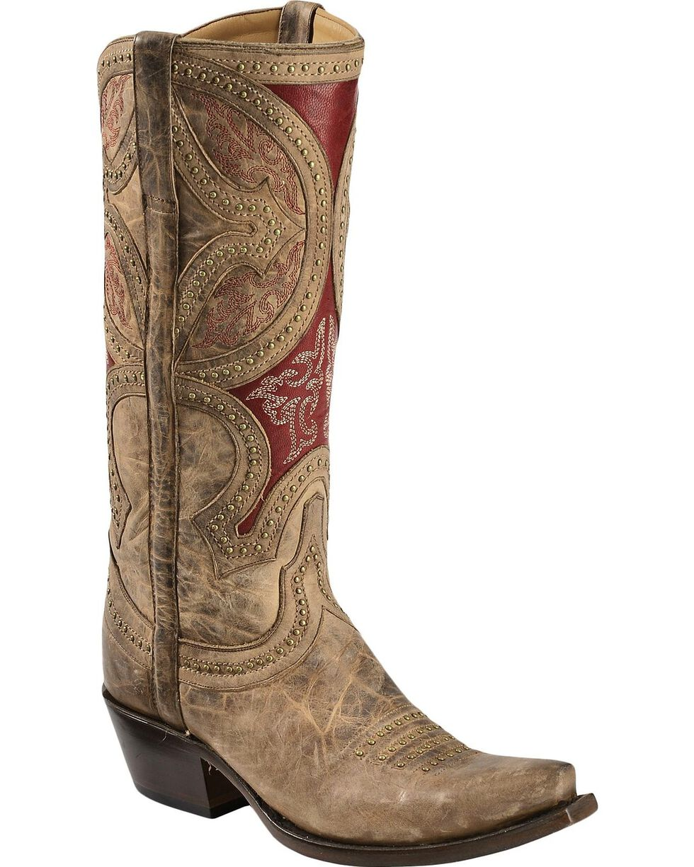 Lucchese Women's Leila Renaissance Mosaic Western Boots, Beige, hi-res