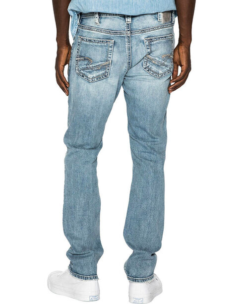 Silver Men's Light Indigo Konrad Slim Fit Jeans - Straight Leg , Indigo, hi-res