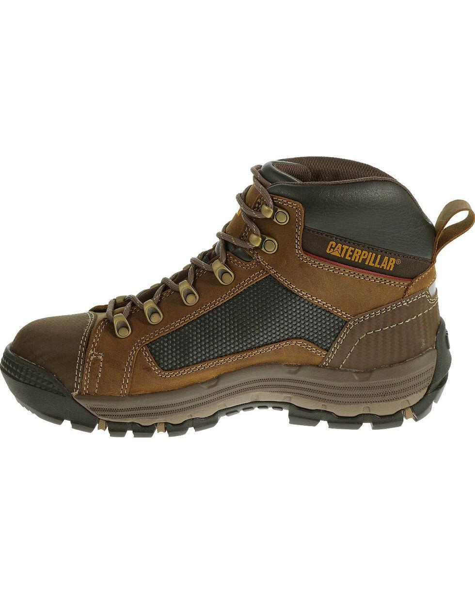 CAT Men's Convex Mid Steel Toe Work Shoes, Light Brown, hi-res