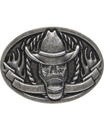 AndWest Men's Cowboy Skeleton Belt Buckle, , hi-res