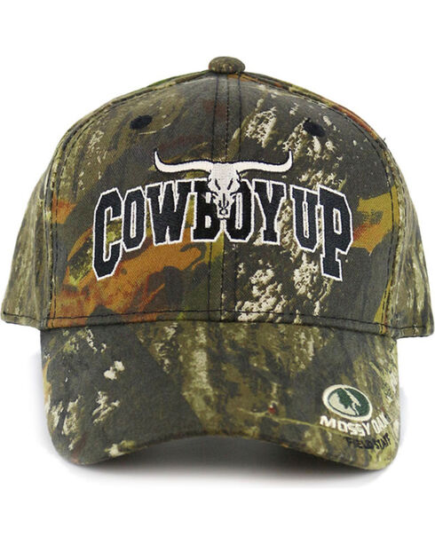 Cowboy Up Allover Camo Ball Cap, Camouflage, hi-res