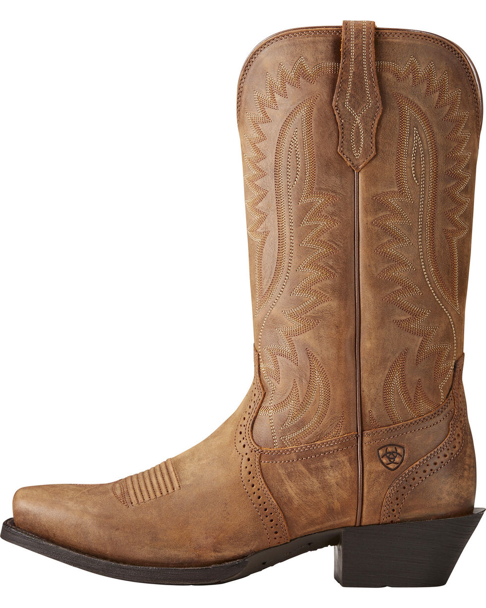 Ariat Men's Downtown Legend Cowboy Boots - Square Toe, Tan, hi-res