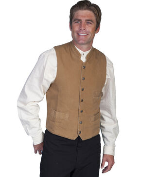 Rangewear by Scully Standup Round Collar Vest - Big & Tall, Brown, hi-res