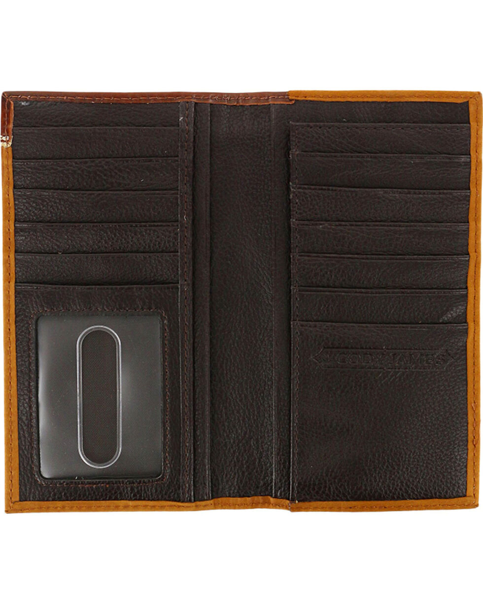Cody James® Men's Leather Rodeo Wallet, Brown, hi-res