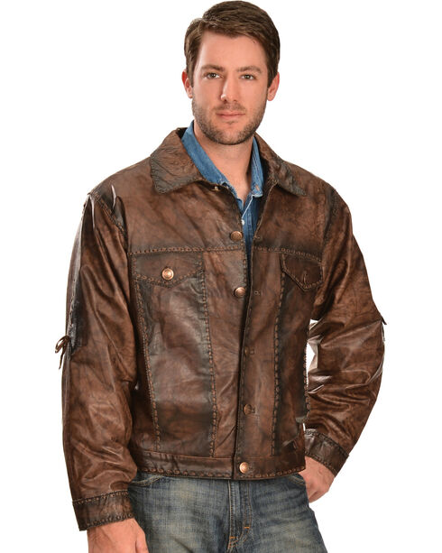 Kobler Leather Men's Rusty Leather Jacket, Brown, hi-res