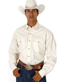 Roper Men's White Denim Long Sleeve Western Shirt, , hi-res