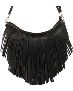 Blazin Roxx Fringe Hobo Bag, Black, hi-res