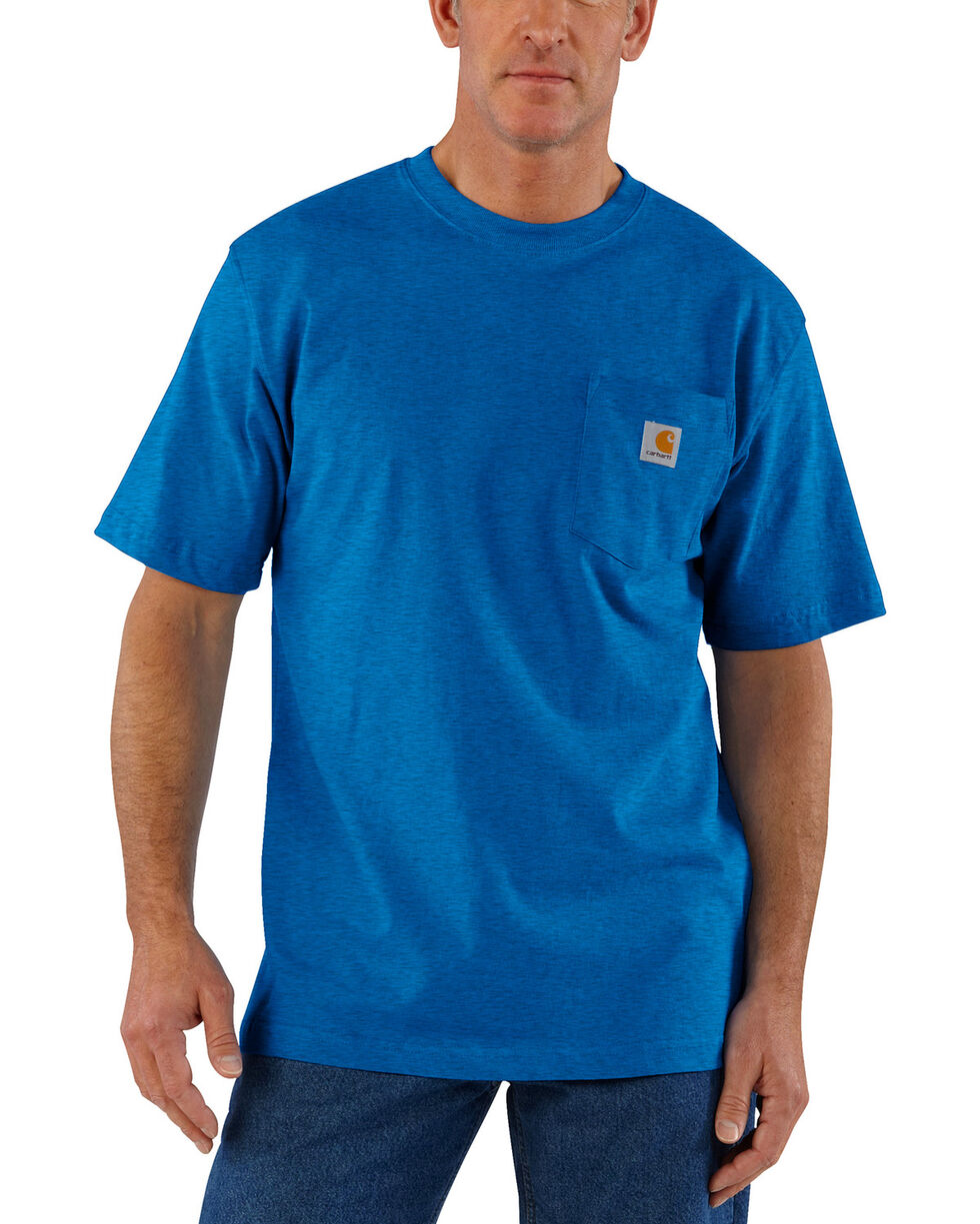 Carhartt Men's Blue Heather Workwear Pocket T-Shirt - Tall, , hi-res