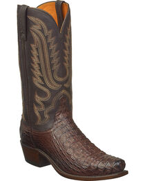 Lucchese Men's Walter Hornback Caiman Western Boots - Snip Toe, , hi-res