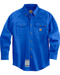 Carhartt Men's Long Sleeve Flame Resistant Dry Twill Work Shirt, , hi-res